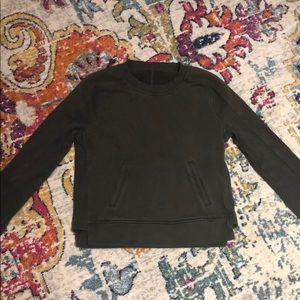 Lululemon Dark Olive Green Sweatshirt - Crop Top